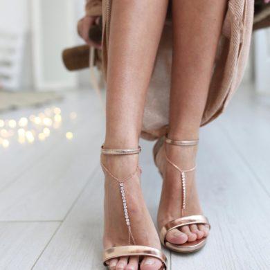Barefoot Sandals-handmade-rose gold-wedding