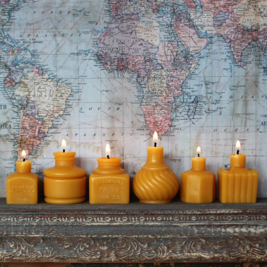 Beeswax-Candles-Set-Six-handmade-etsy