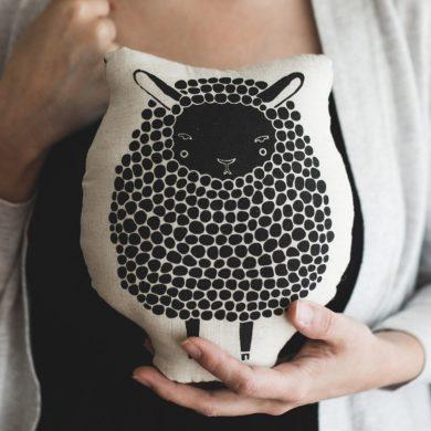 Black-Sheep-Throw-Pillow-Stuffed-Animals-Home-Decor-handmade-etsy