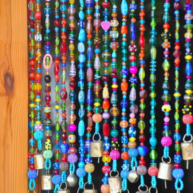 Bohemian Beaded curtain-handmade-etsy