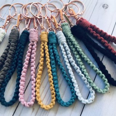 Boho-Wristlet-Keychain-handmade-etsy