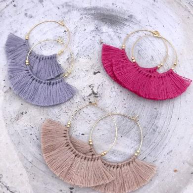 Boho-fringe-handmade-earrings-by-masanetti-on-etsy