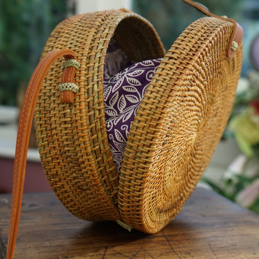 Brown-Round-Rattan-Bag-Bali-Crossbody -Bamboo-etsy-handmade .