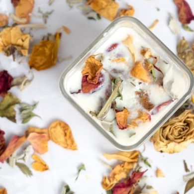 DIY-Kit-Candle-Making-Dried-Flowers-handmade-etsy