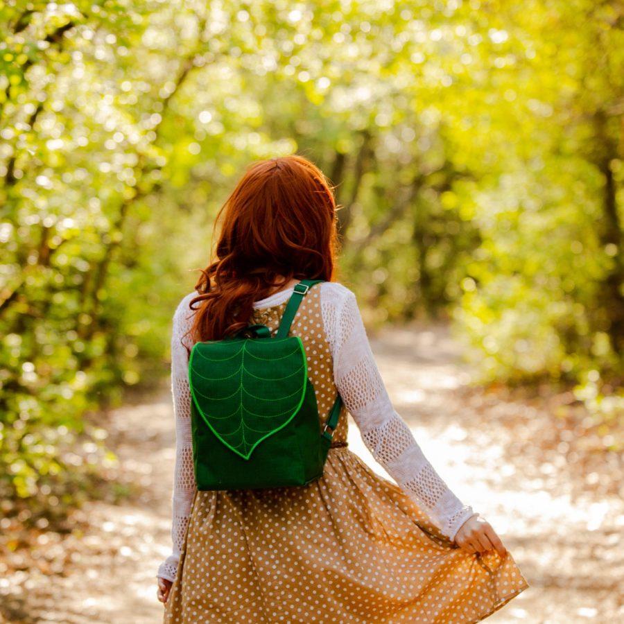 Emerald-Green-Waterproof-Backpack-handmade-etsy