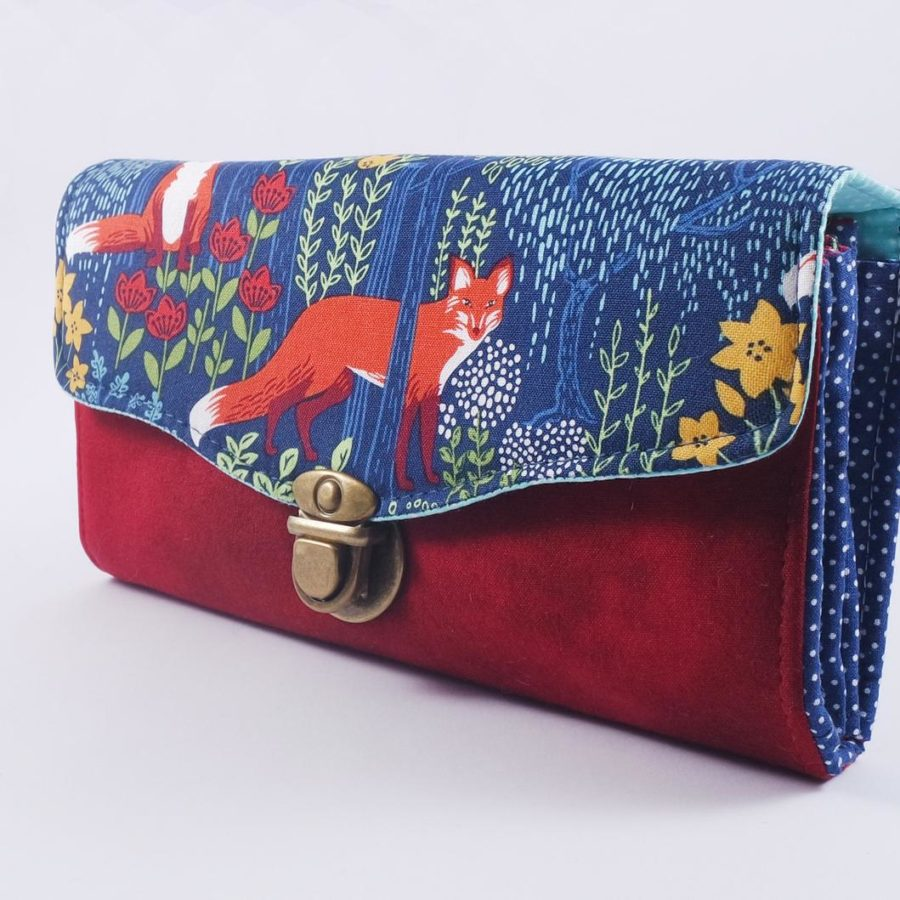 Fox-Women-wallet-animals-handmade-etsy