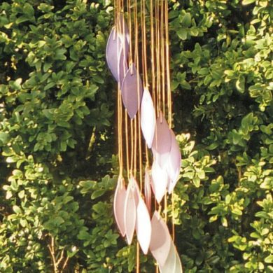 Glass-Falling-Leaves-Wind-Chime-Pink-Purple-handmade-etsy