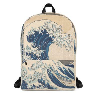 Great Wave of Kanagawa Hokusai Backpack-handmade-etsy