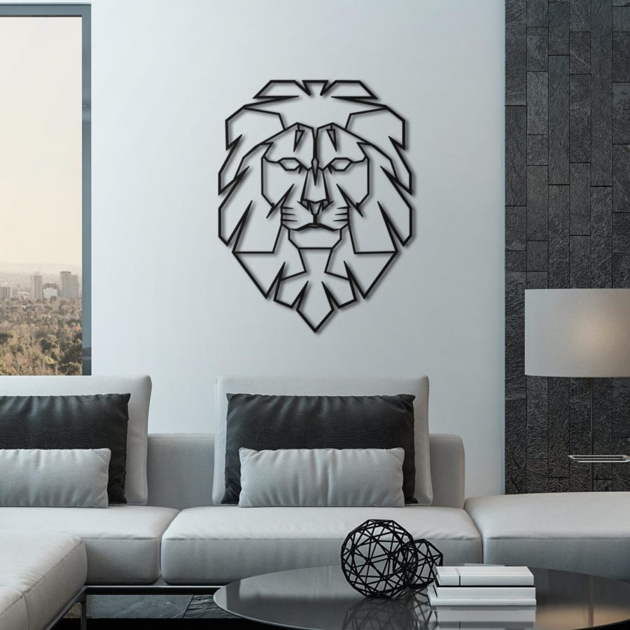 Leo-Meta- Wall-Art-handmade-etsy-animals-lion.