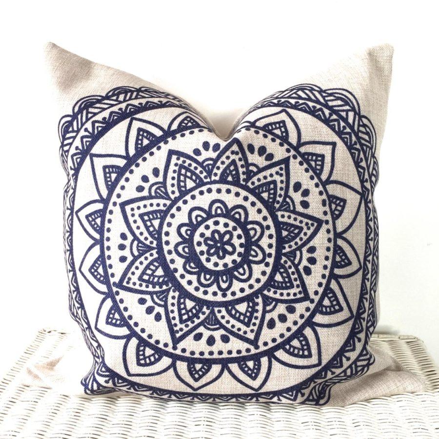 Mandala-cushion-Bohemian- hippie-boho-lotus-flower-handmade-etsy
