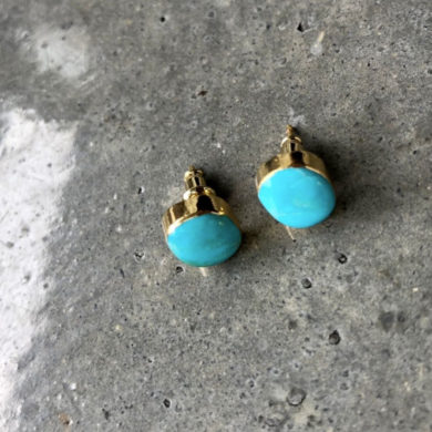 Natural-turquoise-studs-handmade-earrings-by-bijoulimon-on-etsy
