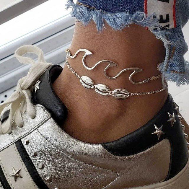 Ocean-Wave-Anklet-Set-handmade-ankle-bracelet-by-treasuresalongthesea-on-etsy