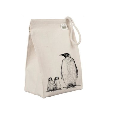 Reusable -Penguin-Lunch-Sack-handmade-etsy-Animal-Arctic