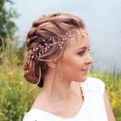 Rose gold hair vine-handmade-etsy