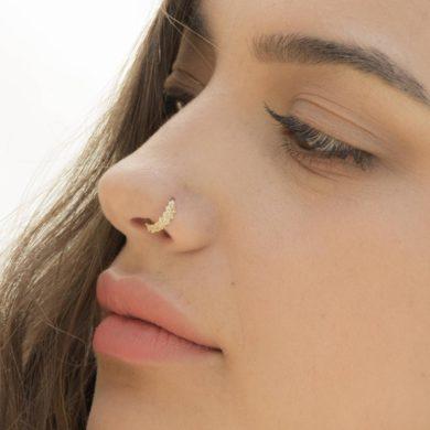Tribal Nose Ring-handmade-etsy-gold