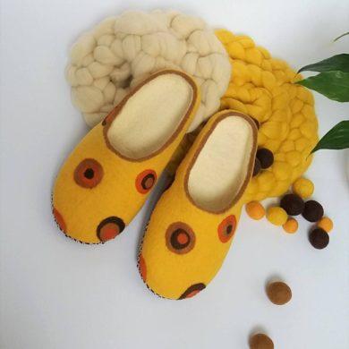 Women Wool Felted Slippers-handmade-etsy-indoor-Merino-shoes