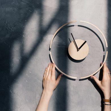 Wooden-minimalist-clock-modern-handmade-etsy-wall