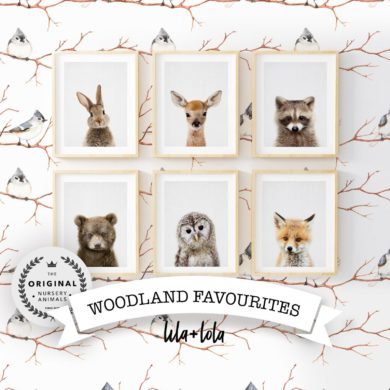 Woodland-Baby-Animals-Print-Set-handmade-etsy-Kids-Room