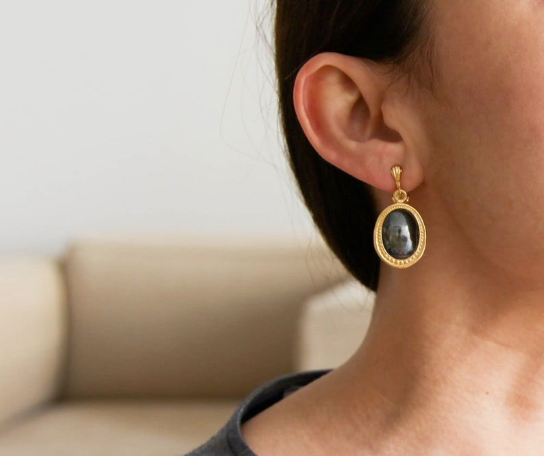 gold-Ematitis-tones-clip-on-handmade-earrings-by-annaohsailors-on-etsy