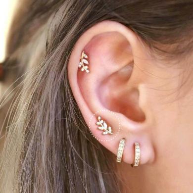 Leaf stud silver handmade earrings by milanmonamour etsy