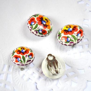 rainbow-non-pierced-Clip-On-handmade-Earrings-by-vivaarcenciel-on-etsy
