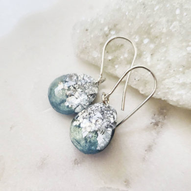 Small neptune aquamarine drop handmade earrings by stardustcollectionx on etsy