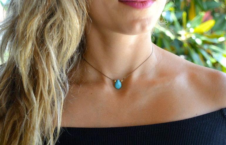 turquoise-choker-handmade-necklace-by-whiteluckworkshop-on-etsy