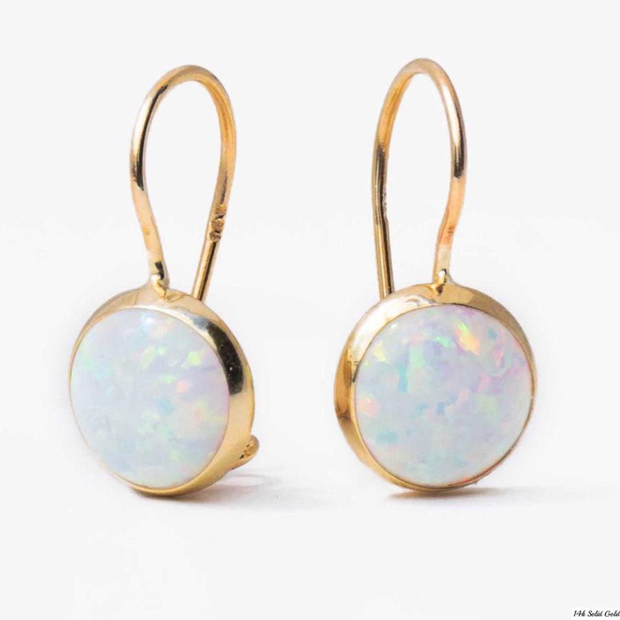 Opal Earrings Gemstone Handmade Earrings by AditaGold Etsy